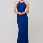 PO70 Sadie lace formal dress cobalt